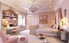 Pretty in pink girls bedroom