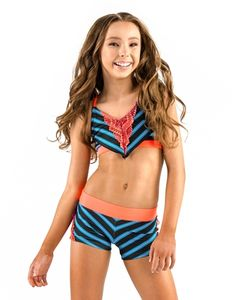 California Kisses - SOPHIA LUCIA STRIPE HALTER BRA TOP - Sophia Lucia Collection / Girls Sizes