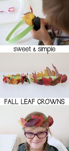Sweet Simple Fall Leaf Crowns