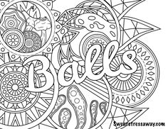 334 Best Swear Word Coloring Pages Images On Pinterest In 2018