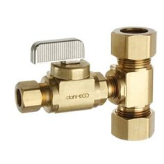 Dahl E33-2212 Rough Brass Quarter Turn Straight Valve