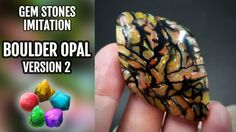 DIY How to make BOULDER OPAL Stones from POLYMER CLAY |!Version 2!| STON...