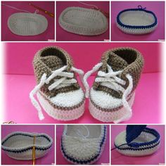 Homemade baby shoes for baby gifts are easier than you think. You can create a nice one with a crochet hook and some yarn!If you know the basics of crocheting, here is a pictured tutorial for you to make a pair of cute baby sneakers. They look so warm and …