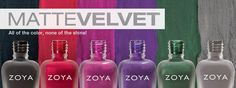 Lace and Lacquers: PRESS RELEASE: Zoya MatteVelvet Re-Release