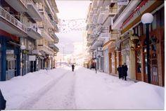 Sneeuw in Florina (Griekenland)