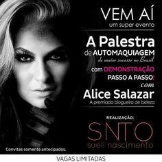 A top blogueira de beleza Alice Salazar vem para Sinop
