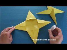 Bastelideen Weihnachten: Weihnachtssterne basteln mit Papier - Sterne - YouTube