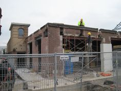 Mount Dennis Branch  Toronto Public Library - during 2011-2013 renovation - exterior photo.