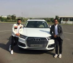 A new set of keys for Virat Kohli as Rahil Ansari hands him over a new Audi Q7, Virat Kohli, New Set, Keys, Hands, Unique Key, Human Height