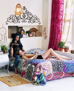 Bohemian Chic Decor | ... boho-chic style home. Colorful yet down to earth, create warmth