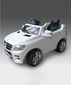 Look at this White Mercedes ML-350 Ride-On on #zulily today!