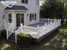 Composite deck. I like this design, simple, I like the color combo ...