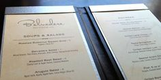 upscale restaurant menu