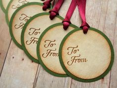 Rustic Christmas Tags Victorian Vintage Style Holiday Hang Tag Hostess Gift To From by PapergirlStudios on Etsy https://www.etsy.com/listing/252429724/rustic-christmas-tags-victorian-vintage