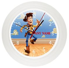 Personalised *TOY STORY*WOODY* Clock* Childrens Bedroom* Gift* Boys* Girls* by LittlePicklePlaques on Etsy
