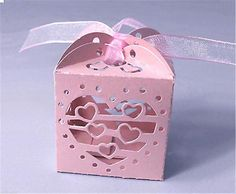 Love Heart Candy Boxes Beautiful Pearlescent Paper Gift Bags Wedding Favor Party 8 • $1.74