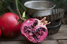 pomegranates. — vermilion red Vermilion Red, Pomegranates, Plum, Autumn, Fruit, Vegetables, Food, Grenades, Fall Season