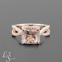 Rose Gold Engagement Rings Morganite 10