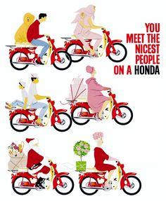 60s Honda C50 advert