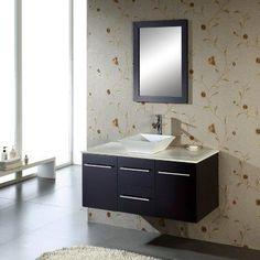 Virtu USA Marsala Single Bathroom Vanity Set MS-420 - MS-420-G-WH-001