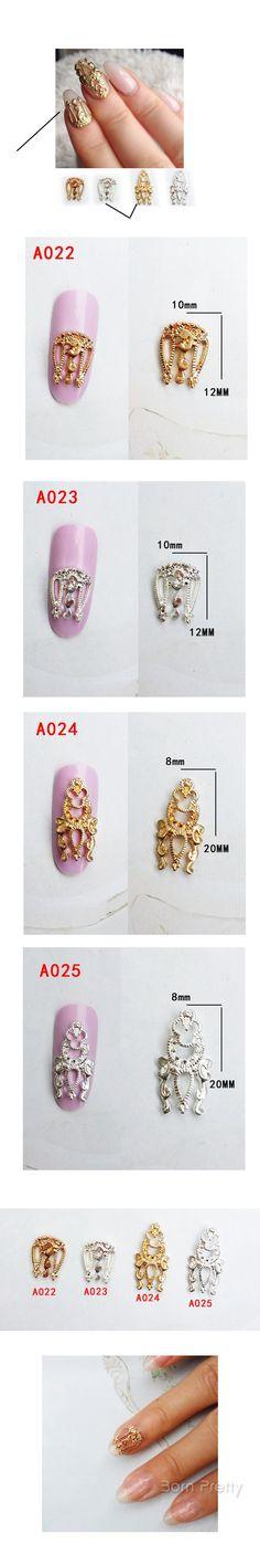 $1.99 5Pcs/set Vintage Hollow-out Design Charming 3D Nail Art Decoration - BornPrettyStore.com