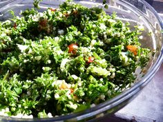 The Nervous Cook: Mostly green tabbouleh. Enjoyed this dish in Bahrain!