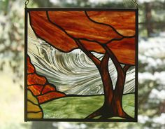 Hey, I found this really awesome Etsy listing at https://www.etsy.com/listing/109178706/fall-tree-landscape-stained-glass-panel