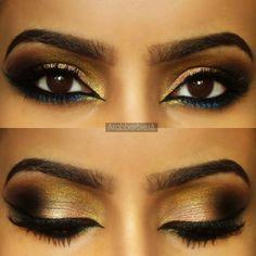 Peach arabe oeil maquillage