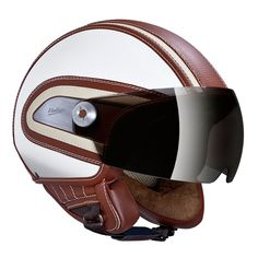Hugo Boss Moto Helmet Brown - for when I get my parisian vespa obviously Motorcycle Helmet Design, Motorcycle Gloves, Biker Helmets, Scooter Helmet, Bicycle Helmet, Hugo Boss, Porsche, Cool Motorcycles, Riding Gear