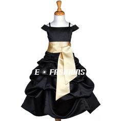My wedding colors are black and Gold. Thinking this could be the flower girl's dresses...