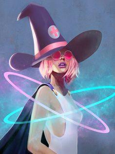 Glow Witch, chloe veillard on ArtStation at https://www.artstation.com/artwork/3Vm52