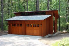 Buchanan Custom Builders has specialized in Deck House homes for 25 years, call us for your next Deck House kitchen, bathroom, windows, and more! Timber Frame Garage, Pole Barn Garage, Carport Garage, Detached Garage, Garage Loft, Car Garage, Garage Plans With Loft, Garage House Plans, Garage Ideas