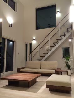 {6ED874ED-A757-4F29-98B6-48F563D3F00C:01} Loft House, My House, I Smart, Decoration, Living Room Decor, House Plans, Sweet Home, New Homes, Stairs