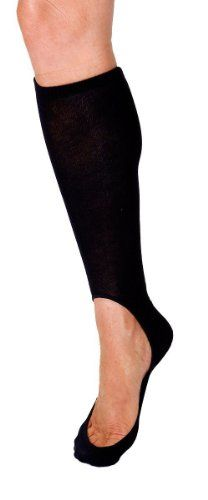 Keysocks Knee High No Show Socks - Black