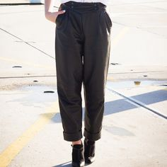 Stop your search to the perfect leather baggy pants. Slick Me Up is here! Shop Slick Me Up @ www.myfavouritemusthaves.com