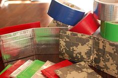 A bunch of fun looking projects including duct tape wallets, balloon flip flops and I-Spy bags (for the littles)