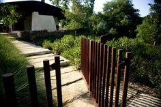 Brookhollow   Dallas, USA   Hocker Design Group #garden #home #landscape #architecture #gate #rusted