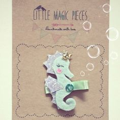 Princess the Seahorse Hair Clip - Under the Sea Collection