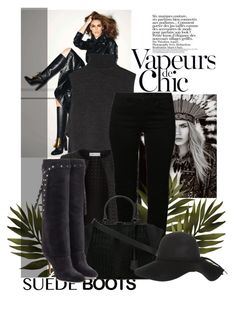 """""""""""Style Staple: Suede Boots"""" contest entry"""" by excogitatoris ❤ liked on Polyvore featuring Anja, ADAM, Maglie I Blues, VILA, Fendi, Valentino and suedeboots"""