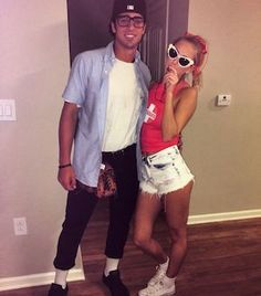 75 Easy DIY Couples Halloween Costumes - Prudent Penny Pincher From movie and tv show themed costumes to scary and funny costumes, there are nearly a hundred DIY couples Halloween costumes to choose from. Meme Costume, Easy Couples Costumes, Funny Costumes, Group Costumes, Sandlot Costume, Woman Costumes, Mermaid Costumes, Pirate Costumes, Costume Ideas