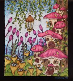 From Klara Markova's beautiful book Magical delight. I used polychromos and some posca for the background  @klaramarkovajewels #magicaldelight #polychromos #posca #mushrooms #klaramarkova #coloring #coloringbook #coloringbookforadults #coloringforadults #coloringtherapy #coloring_repost #wonderfulcoloring #coloring_secrets #divasdasartes #majesticcoloring