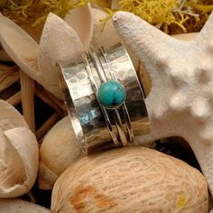 Turquoise spinner ring