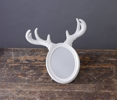 deer horn mirror *90% off clearance sale by impulse purchase   notonthehighstreet.com
