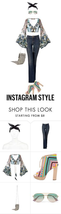 """""""Instagram Style"""" by drigomes ❤ liked on Polyvore featuring River Island, Simply Vera, Roberto Cavalli, Jerome C. Rousseau, Jimmy Choo, Gucci, 60secondstyle and PVShareYourStyle"""