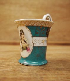 Antique Cabinet Cup Josephine by Yonks on Etsy