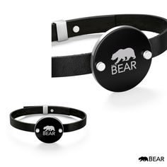 Discover the latest collection of the leather bracelet including bear logo stamped on a circle at center for communicating your uniqueness requiring little to no effort. Bear Logo, Logo Stamp, Effort, Men's Fashion, Headphones, Belt, Sterling Silver, Bracelets, Leather