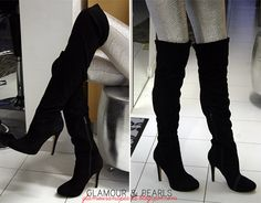 if anyone knows where i can find a fabulous pair of black, faux suede, over the knee boots...they should probably let me know