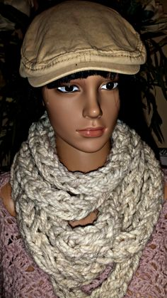 Crochet Infinity Scarf Pattern, Crochet Patterns, Chunky Infinity Scarves, I Cord, Crocheting, Stitch, Knitting, Shop, Etsy