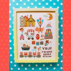 ARGH! i want to make this for Lyle!!! Shop | Category: Embroidery & Cross Stitch | Product: Gera Cross Stitch - Baby Sampler