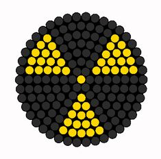 Radioactive Symbol For Goggles Gasmask Ect Perler Bead Pattern | Bead Sprites | Simple Fuse Bead Patterns
